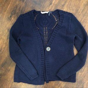 Soft Surroundings Knot Cardigan Sweater T69